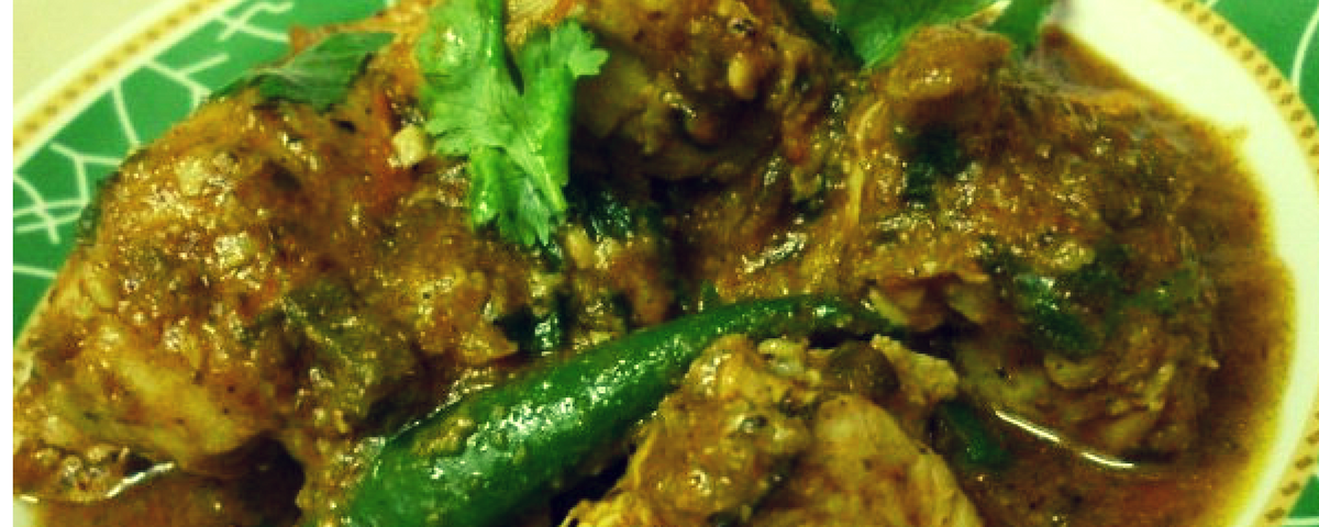 CHICKEN GREEN MASALA CURRY