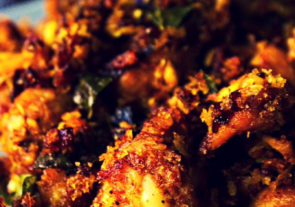 Chicken dry fry with grated coconut
