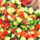 Cucumber, Tomato & Red Capsicum Salad Recipe